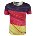 Nueva Llegada de Los Hombres de Impresión 3D bandera de Alemania Camiseta de Manga Corta Desgaste del verano Top Camisetas de Alta Calidad de Cuello Redondo T shirt hombres