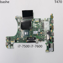 For lenovo THINKPAD T470 Laptop Motherboard CT470 NM-A931 With i7-7500U i7-7600u CPU DDR4 Mainboard 100% Tested