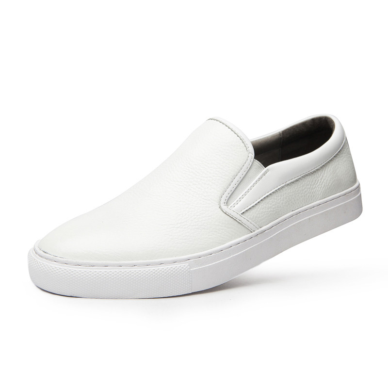 Dropshipping Fashion Men Causal Shoes Genuine Leather Shoes Slip On Men High Quality Superstar Shoes Breathable Shoes DB021 in Men 39 s Casual Shoes from Shoes