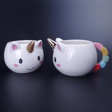 Здесь можно купить  Creative Unicorn Milk Mug 3D Ceramic Coffee Porcelain Cup Kids Cartoon Water Cups Christmas Xmas Gift for Girl Friend