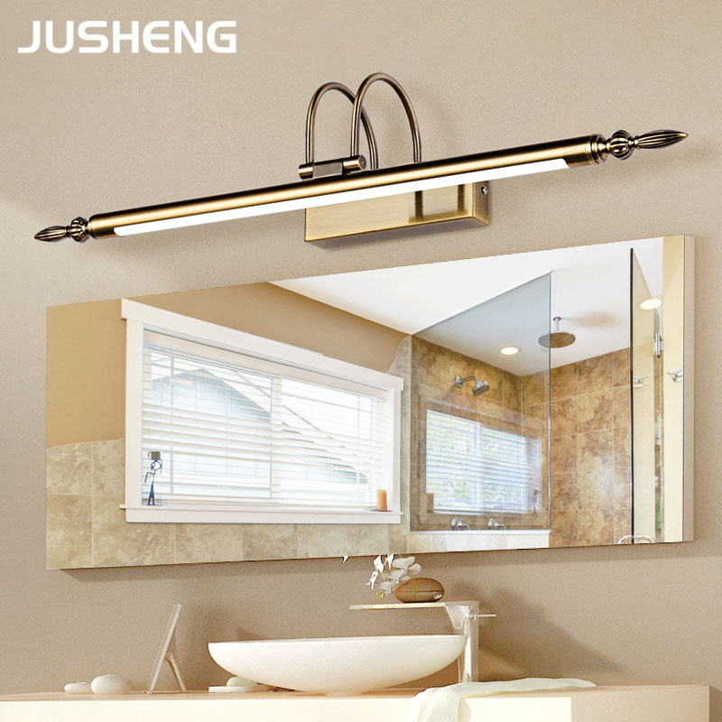 Bathroom Mirror Lamp Waterproof Retro Bronze/Nickel Cabinet Vanity Mirror Lights Led Wall Light Lamp vintage bathroom light L56/