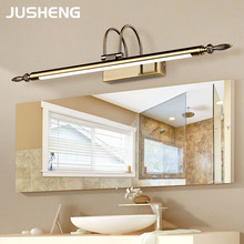 Bathroom Mirror Lamp Waterproof Retro Bronze/Nickel Cabinet Vanity Mirror Lights Led Wall Light Lamp vintage bathroom light L56/ цены онлайн