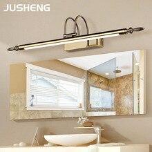Espejo de baño lámpara impermeable Retro bronce/níquel gabinete vanidad espejo luces Led luz de pared lámpara vintage baño L56/