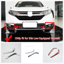 2PCS ABS Chrome Exterior Accessories Front Head Fog light Eyebrow Lamp Brow Cover Trim for Honda CRV CR-V 2017 2018 Car Styling