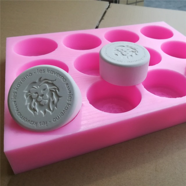 Customized 12 Cavities Silicone Soap Mold With Brand Logo Custom