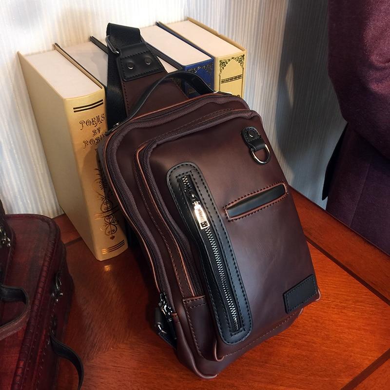 ETONWEAG Brands Cow Leather Belt Bag Men Travel Bags Vintage Zipper Crossbody Sling Bag Celular Fanny Pack Fashion Chest Bags
