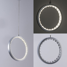 Modern pendant lights for living room dining small/middle/big Circle Rings LED Lighting Lamp fixtures