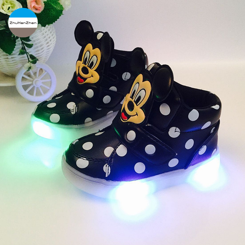 2017 1 to 5 years led light shoes baby boy and