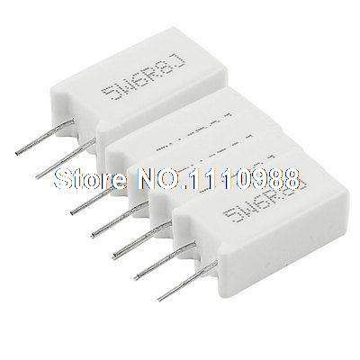 5 Pcs Wirewound Radial Lead Ceramic Cement Resistors 5% 5W 6.8 Ohm цена