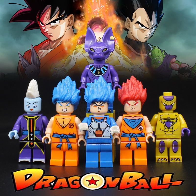 Dragon Ball Super Christmas Wallpaper: 6 Styles 6pcs/set Dragon Ball Super Goku Whis Beerus Jiren