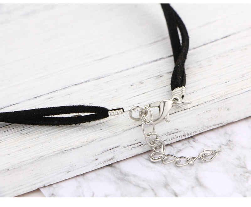 ボヘミアンボヘミアンチョーカー Druzy ネックレス女性のための革ロープチェーン天然石ネックレスペンダント首輪チョーカーネックレスコラル