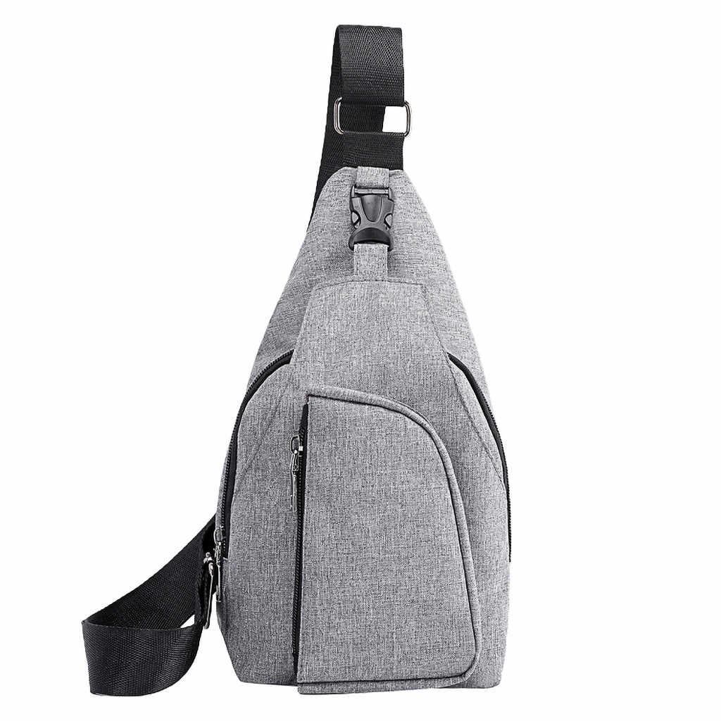Bag Man Cross Body Men Oxford Cloth Beach Casual Chest Bag Sports Outdoor Leisure Multi-function Shoulder Messenger Bag
