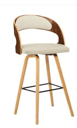 Trend Mark Solid Wood Bar Chair Leisure Creative High Stool Personality Bar Chair Modern Simple Backrest High Stool. Bar Chairs