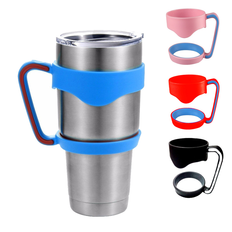 New Portable Plastic Black Water Bottle Mugs <font><b>Cup</b></font> <font><b>Handle</b></font> <font><b>For</b></font> YETI <font><b>30</b></font> Ounce Tumbler <font><b>Cup</b></font> Hand Holder Fit Travel Drinkware C2305P10