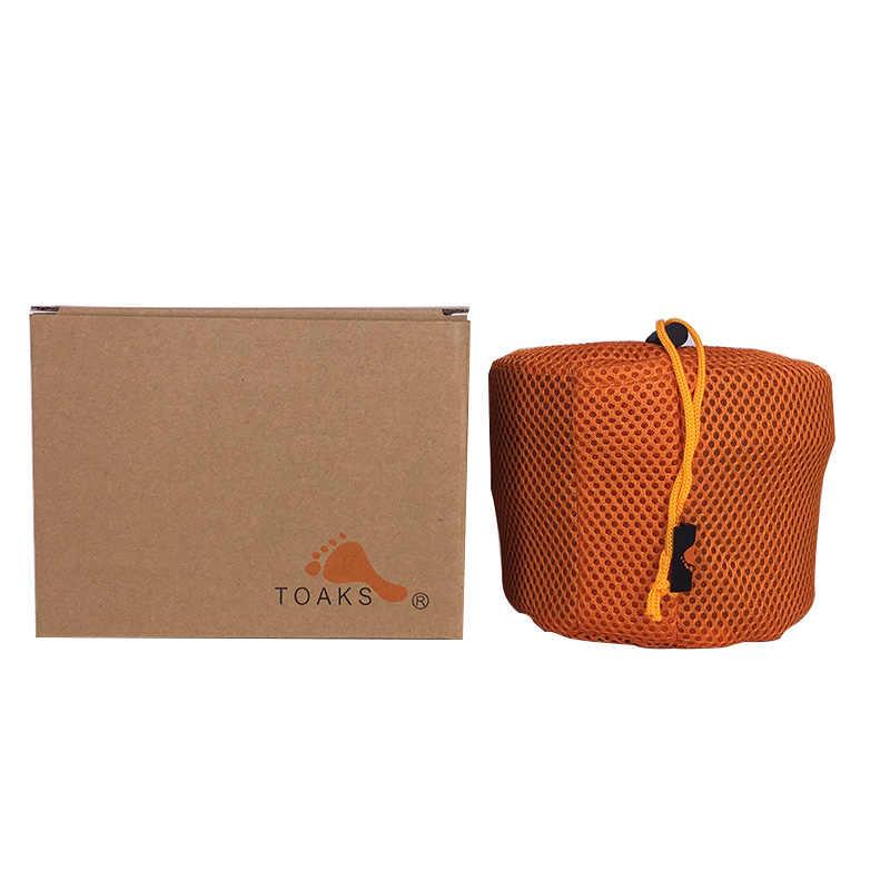 TOAKS CKW-1600 сверхлегкий титановый горшок и сковорода для походов на открытом воздухе