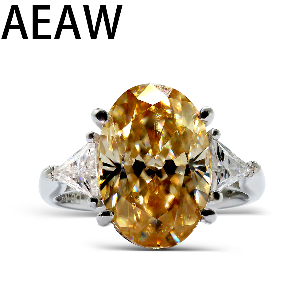 AEAW Halo Moissanite Ring Main Stones 6ct Carat Oval Cut Brilliant Moissanite Engagement Ring in Silver for WomenAEAW Halo Moissanite Ring Main Stones 6ct Carat Oval Cut Brilliant Moissanite Engagement Ring in Silver for Women