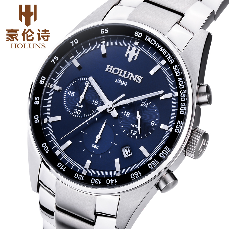 2017 simple fashion business quartz watch with multi-functional waterproof sports business steel band watch dial цена и фото