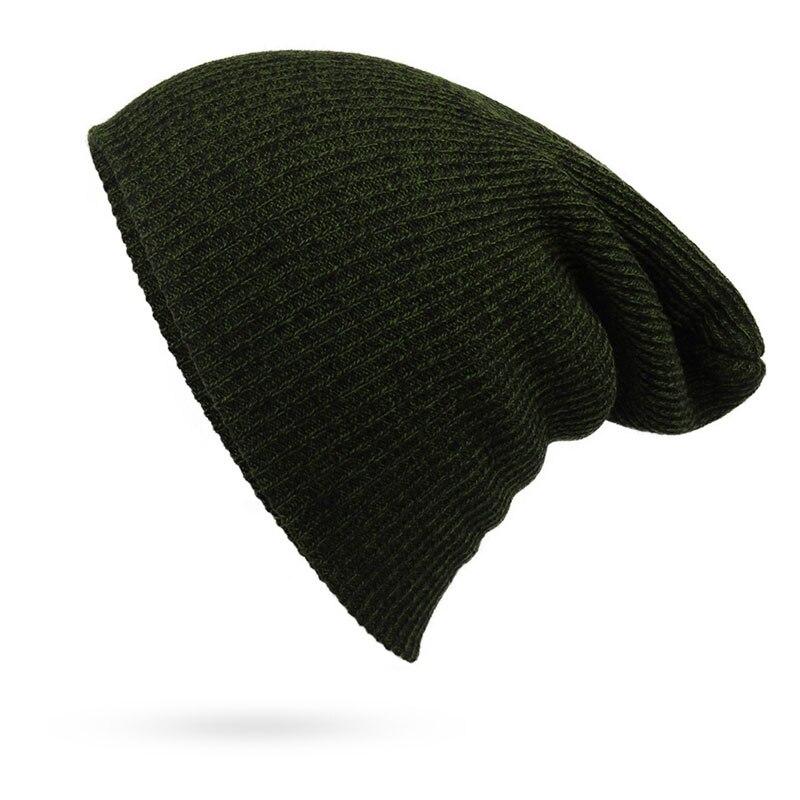 77e2626b209 Men s and Women s Winter Hats Knit Beanie Casual Warm Skull Caps Bonnet  Dark Green Navy Black