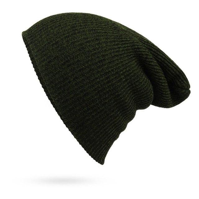 09f5a8e67ee Men s and Women s Winter Hats Knit Beanie Casual Warm Skull Caps Bonnet  Dark Green Navy Black