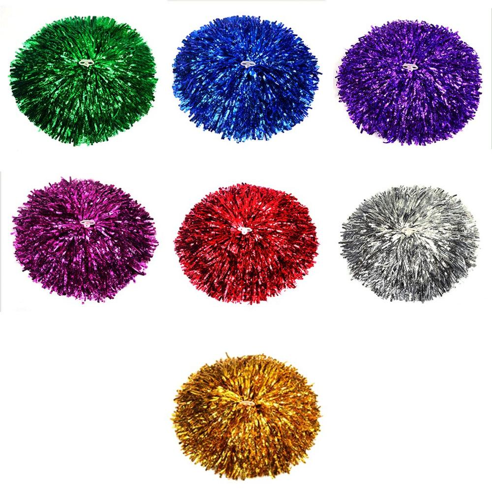 Cheer Dance Sports Supplies Competition Cheerleading Pom Poms Flower Ball Lighting Match Fancy Pom Poms Hot Sale Drop Shipping