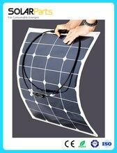 95W factory direct semi flexible solar panel mono solar panel solar module for RV Boat Golf
