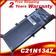7.6V  C21N1347 New Laptop Battery For ASUS X554L X555 X555L X555LA X555LD X555LN X555MA 2ICP4/63/134 C21N1347