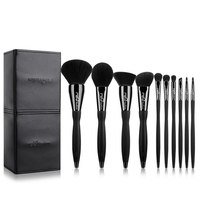 New Arrival Black10pcs Makeup Brushes Set Professional Cosmetics Eyebrow Foundation Shadows Kabuki Make Up Beauty Tools