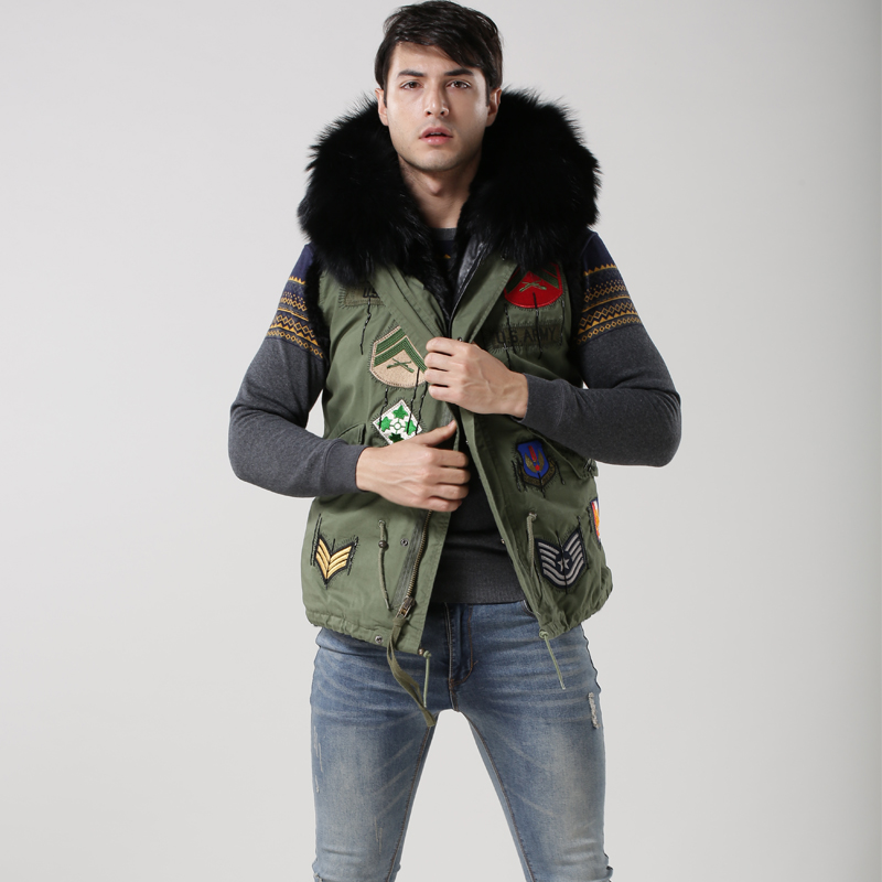 2017Mens Winter Jacket For Black Hood,Waistcoat for Army Green ...