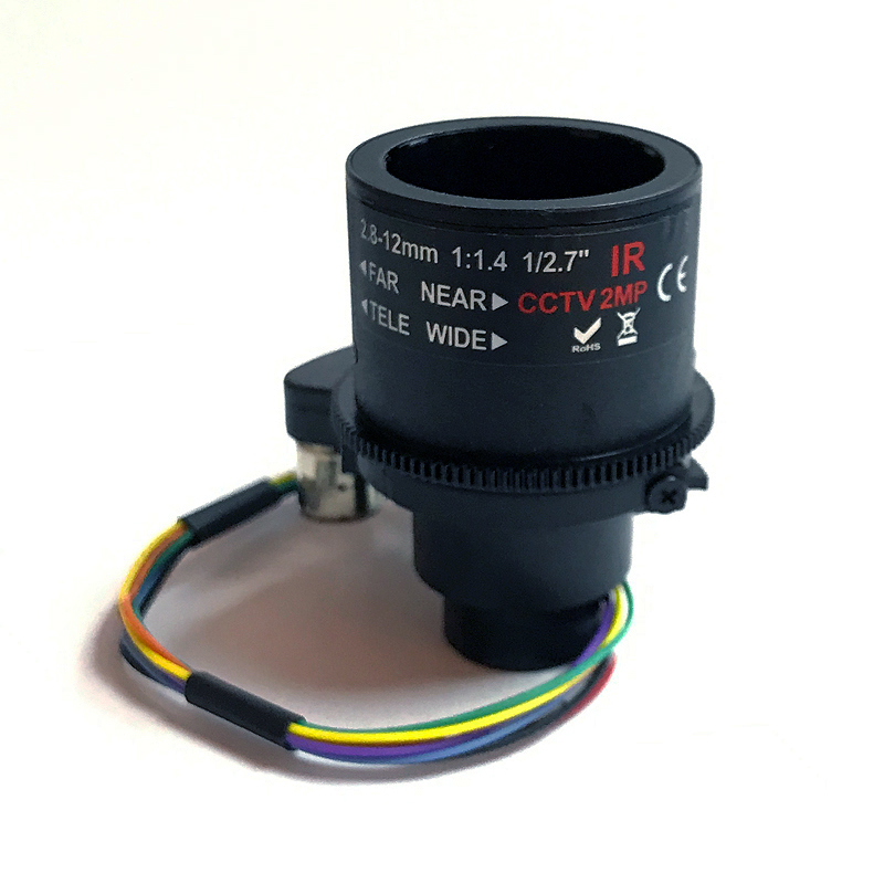 "M14 Mount 3MP Motorized 2.8-12mm Varifocal CCTV Lens 1//2.7/"" for HD CCTV Cameras"