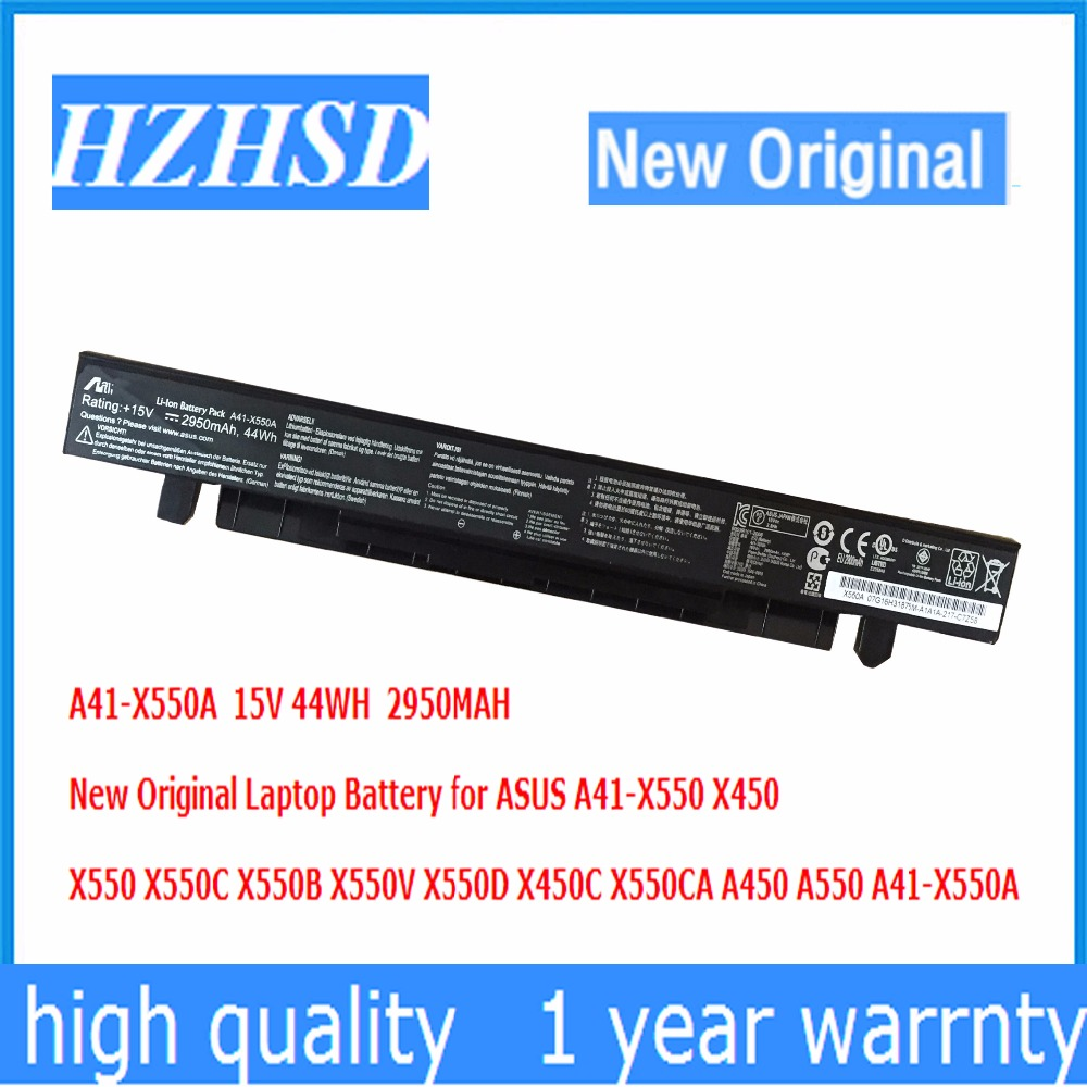 15V 44WH 2950MAH New Original A41-X550A Laptop Battery for ASUS X450 X550 X550C X550B X550V X550D X450C X550CA A450 jigu laptop battery for asus a41 x550 a41 x550a x550 x550c x550b x550v x550d x450c x452 4 cells