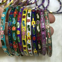 Wholesale 10PCS Chinese Handmade Cloisonne Enamel Cuff Hollow Bracelet Bangle Gift