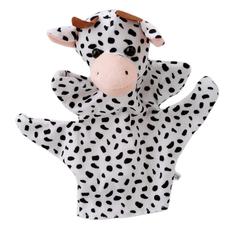 Big Size Cute Animal Glove Puppet Hand Dolls Plush Toy baby kid Zoo Farm Animal Hand Glove Sack Plush Toy DW974533