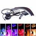 Car Interior Light Strip 8 Color LED Glow Under Dash Footwell Lighting 4pcs Kit