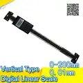 Бесплатная доставка 0 200 мм вертикальный тип цифровой линейный измерительные весы инструмент