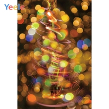 Yeele Christmas Family Party Bokeh Light Customized Photography Backdrops Personalized Photographic Backgrounds For Photo Studio