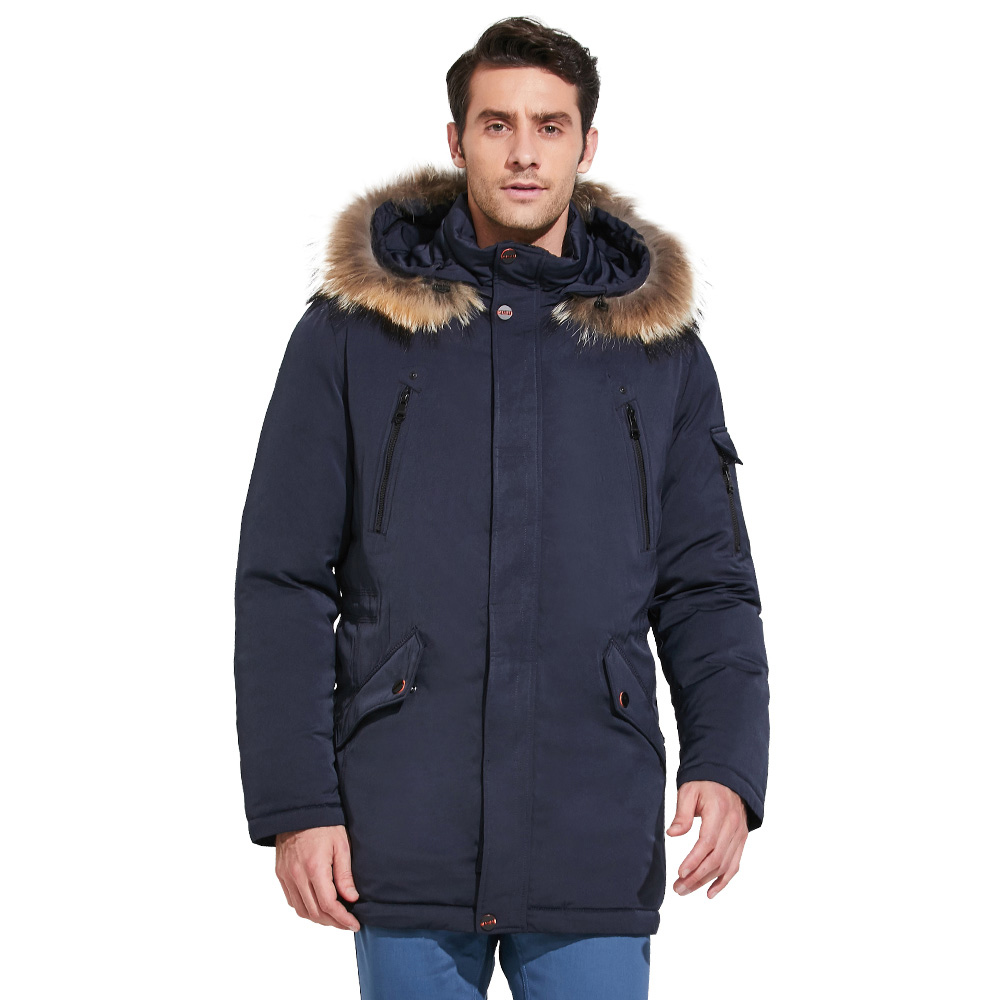 ICEbear 2018 Fashionable men's clothing luxurious removable fur collar comfortable cuffs winter jacket for men 17MD903D duhan motorcycle short protective jacket off road racing moto jacket breathable mesh cloth jacket motorcycle protector for men