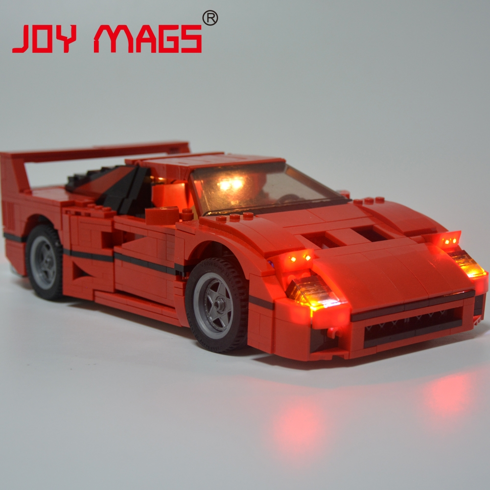 JOY MAGS Only Led Light Set Building Blocks Kit Light Up Kit For Creator Series F40 Car Compatible with Lego 10248 21004 21004 1157pcs technic series f40 sports car building blocks set bricks educational toys for kids gifts compatible with 10248