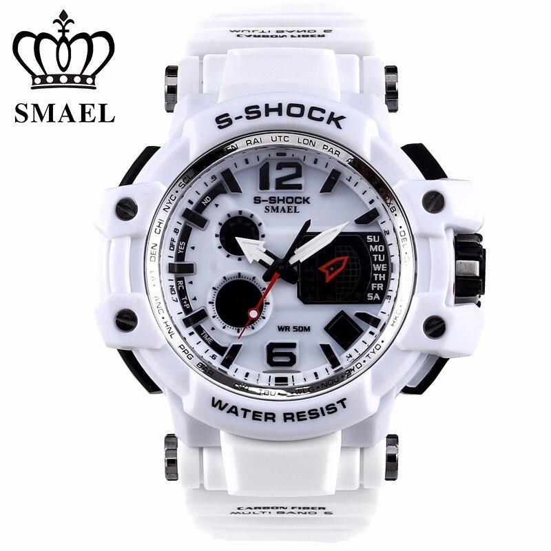 2018 New Sport Dual Display Digital Watch Men Led WristWatch Alarm Wrist Shockproof Waterproof Relogio Masculino Male Hodinky 31 стоимость