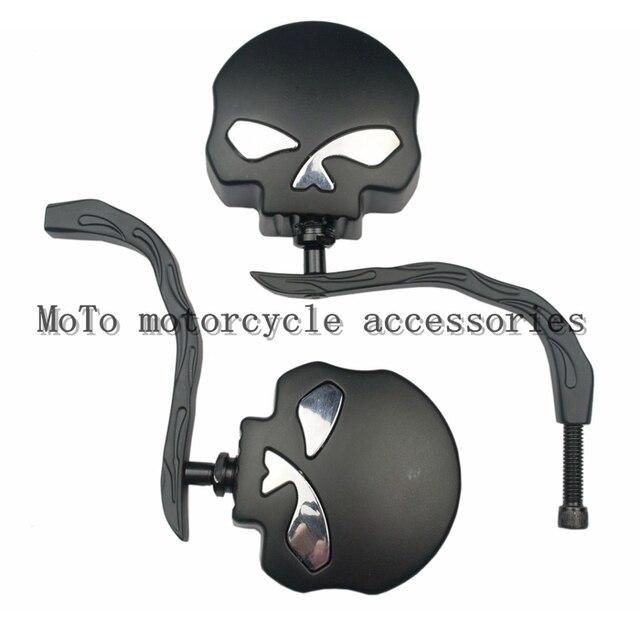 Motorcycle refires pieces metal rear view mirror reflective mirror skull rearview mirror motorcycle rearview mirror