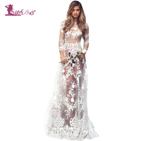 Lurehooker 2017 Sexy Lingerie Hot Cosplay White Bride Wedding Dress Uniform Embroidery Lace Erotic Underwear Floor Length Dress