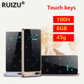 2015 New Arrive Ultrathin 8gb MP3 Player With 1.1 Inch Screen Touch button Can Play 100 hours,Original RUIZU X05 With FM,E-Book
