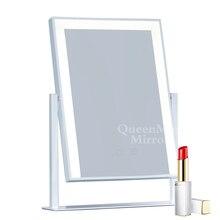 Голливудское зеркало со светодиодной подсветкой, зеркало для макияжа, полоска света, косметическое дорожное сенсорное управление, дизайн, 10х увеличение, косметическое зеркало