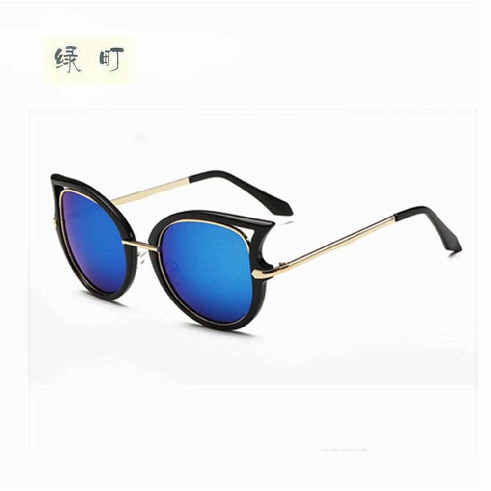 Mode lunettes de Soleil Femmes Cat Eye lunettes de Soleil Célèbre Dame Marque  Designer Double-Poutres lunettes de Soleil Revêtement Miroir Lunettes UV400 e8cf40b6f5dd