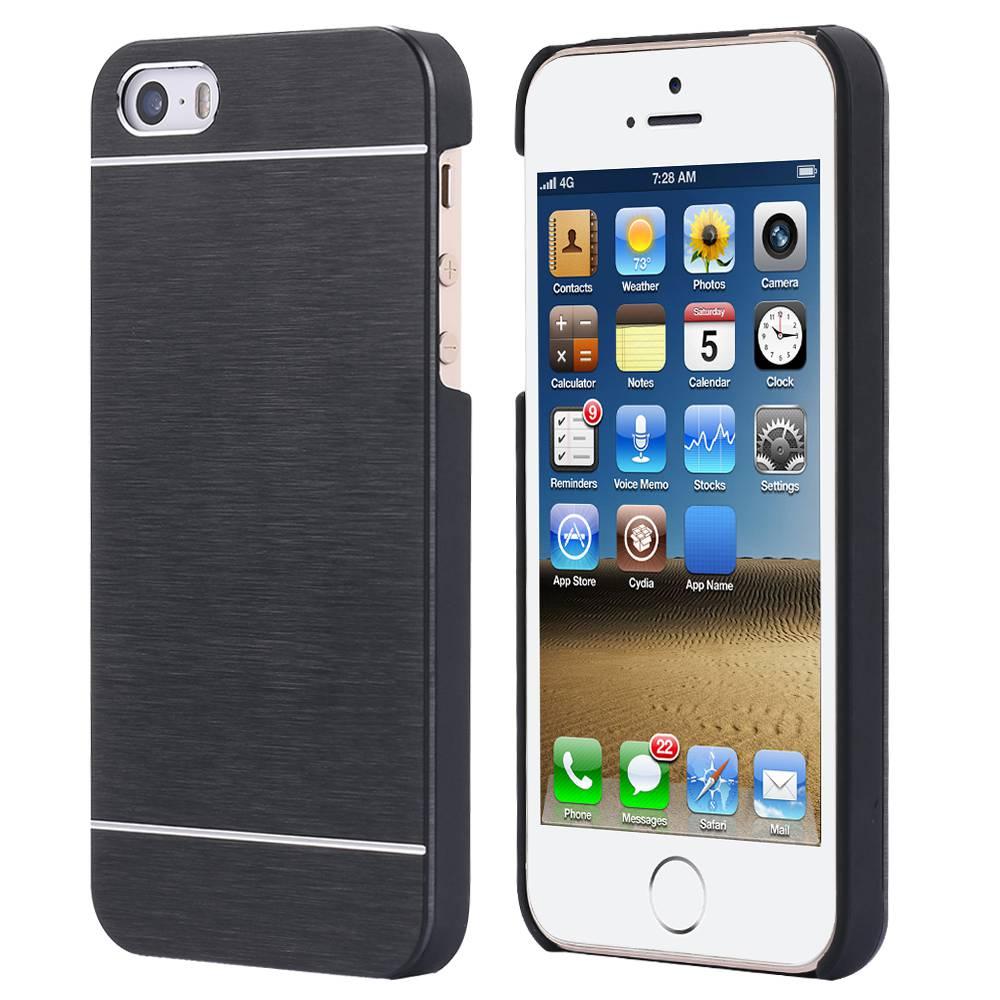 Para apple iphone 4 4s 5 5s se metal case de aluminio del metal cepillado cubier