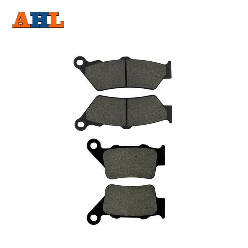 AHL Motorcycle Front And Rear Brake Pads For BMW G650GS (2009-2016) G650 GS G 650 GS Black Brake Disc Pad motorcycle front and rear brake pads for honda cb600f cb600 f 599 2004 2006 brake disc pad kit