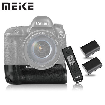 Meike MK-5D4 PRO Battery Grip With 2.4G Wireless Remote for Canon 5D Mark IV as BG-E20 with LP-E6 Battery