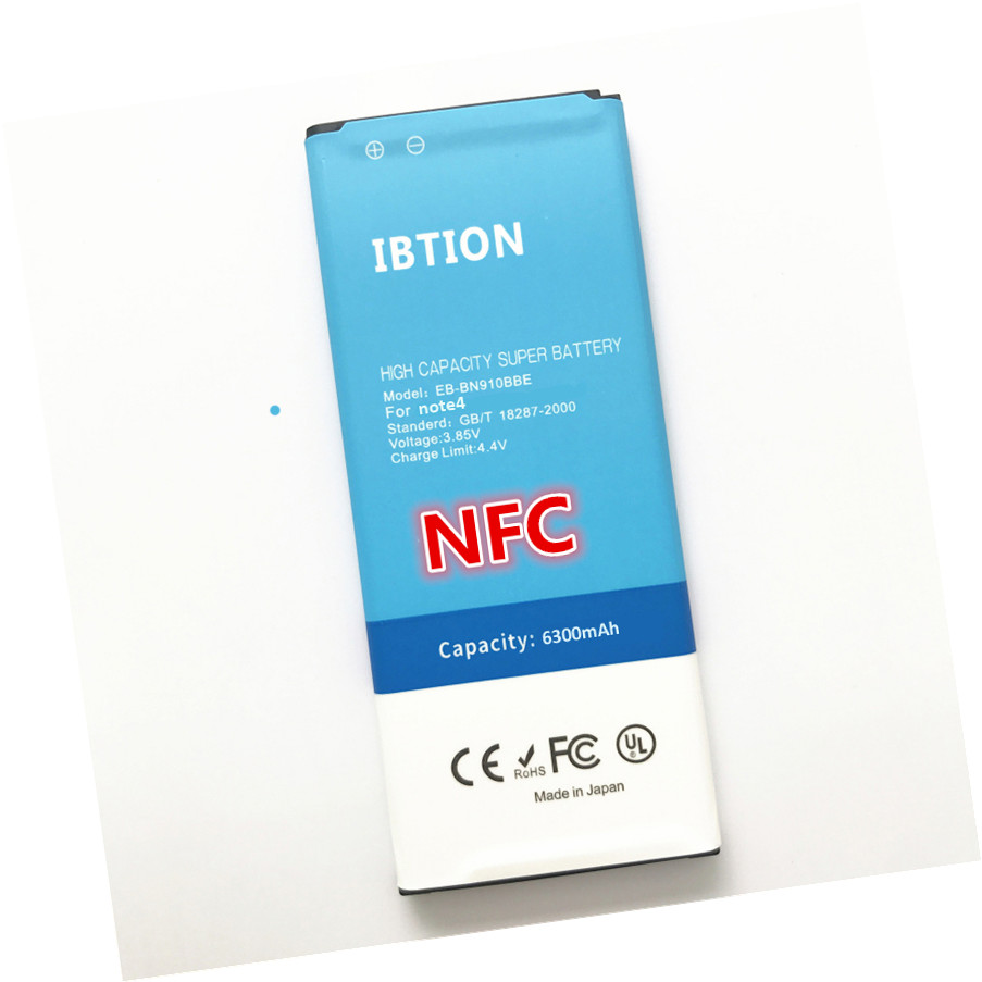 imágenes para 6300 mAh NFC Batería para Samsung Galaxy Note 4 nota4 N910 EB-BN910BBK SM-N910H SM-N910C SM-N910U SM-N910F SM-N910FQ SC-01G