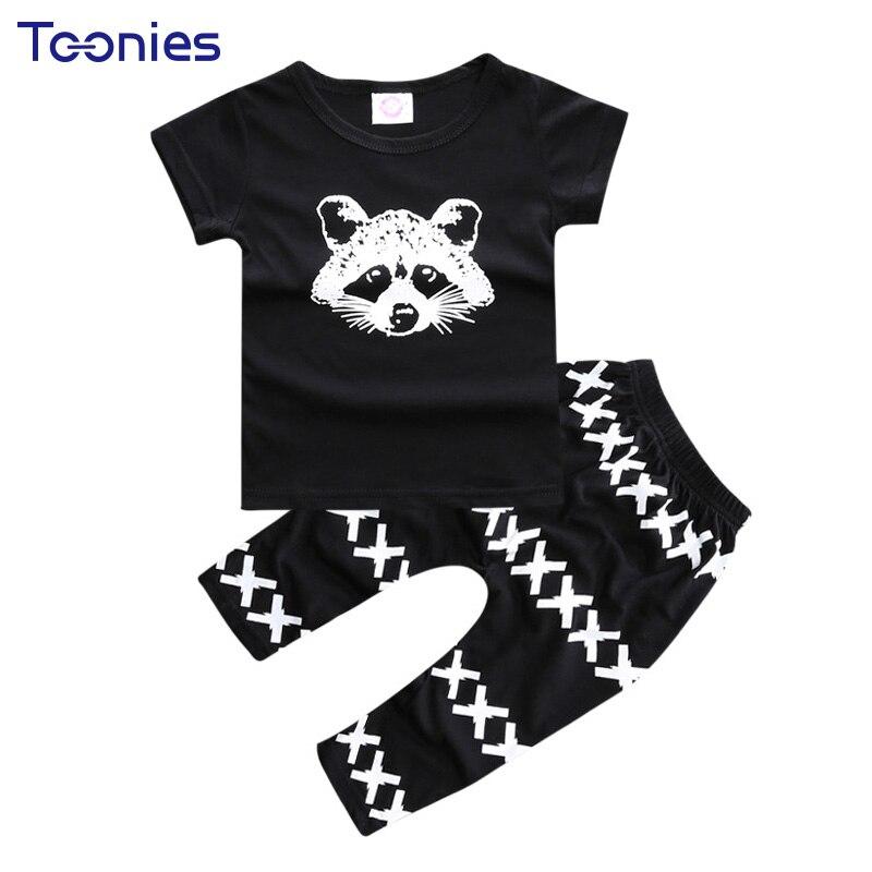 Baby Boys Clothing Sets 2018 Summer Boy Clothes Cute Cartoon Print T-shirt + Pants 2Pcs Child Suits Hot Sale Toddler Sportswear