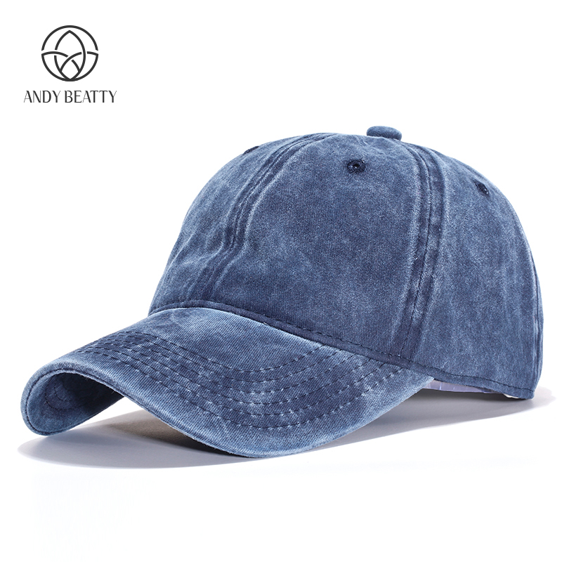 Andybeatty Solid color cotton 5 panel hip hop hatss