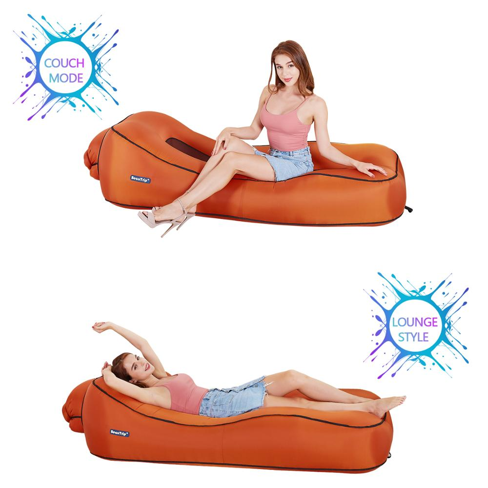 Image 2 - Inflatable Lounger Air Sofa Hammock Portable Waterproof Ideal Couch for Backyard Lakeside Beach Pool Traveling Camping Festival-in Garden Sofas from Furniture